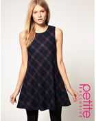 ASOS Collection Asos Petite Exclusive 60s Dress in Check - Lyst