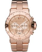 Michael Kors Rose Golden Chronograph Watch - Lyst