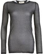 Etoile Isabel Marant Metallic Knit Blouse - Lyst