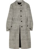 Burberry Prorsum Woven Raffia and Cotton-blend Coat - Lyst