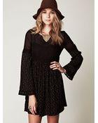 Free People Retro Print Long Sleeve Dress - Lyst