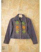 Free People Vintage Embroidered Denim Jacket - Lyst