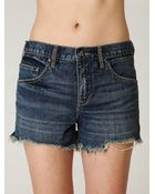 Free People Fp Denim Cut Off Shorts - Lyst