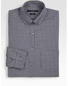 Gucci Check Dress Shirt - Lyst