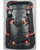 Nixon The Landlock Backpack in Black, Red, & White - Lyst