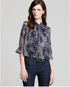Elizabeth And James Long Sleeve Maddie Blouse - Lyst