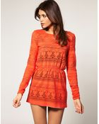 ASOS Collection Asos Tunic with Crochet Detail - Lyst