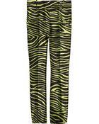 Michael Kors Zebra-striped Wool and Silk-blend Pants - Lyst