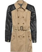 W118 by Walter Baker Milly Cotton and Faux Leather Trench - Lyst
