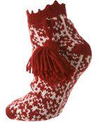 Topshop Urban Knit Fairisle Booties - Lyst