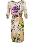 Etro Floral Printed Crepe Dress - Lyst