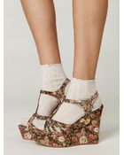 Free People Bed Of Roses Platform - Lyst
