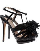 Nicholas Kirkwood Strappy Heels with Grosgrain Rosette - Lyst