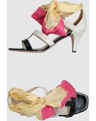 Prada  High-heeled Sandals - Lyst