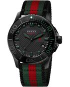 Gucci G Timeless Nylon Strap Watch - Lyst