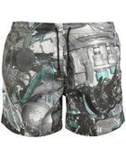 Christopher Kane Torque Printed Swim Shorts - Lyst