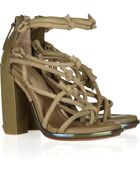 Alexander Wang Tempest Knotted Suede Sandals - Lyst