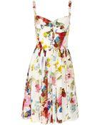 Dolce & Gabbana Floral-print Silk Crepe De Chine Dress - Lyst