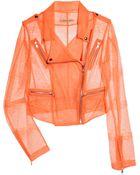 Christopher Kane Neon Lace Biker Jacket - Lyst