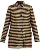 Burberry Prorsum Raffia Stripe Coat - Lyst
