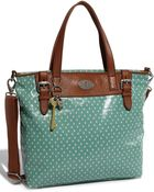 Fossil Vintage Key-Per Coated Canvas Tote - Lyst