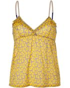 3.1 Phillip Lim Grey and Daffodil Printed Silk Top - Lyst