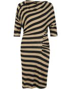 Vivienne Westwood Anglomania Arianna Striped Linenblend Dress - Lyst