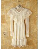 Free People Vintage Gunne Sax Lace Dress - Lyst