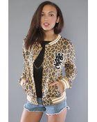 Wesc The Laika Fleece Jacket in Camel - Lyst