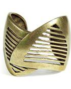 DANNIJO Oxidized Brass Plated Minetta Cuff - Lyst