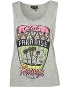 Topshop Club Paradise Vest - Lyst