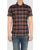 Diesel Short Sleeve Shirts - Lyst