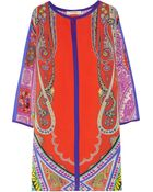 Etro Paisley-print Silk Dress - Lyst