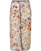 Topshop Watercolour Slip Skirt - Lyst