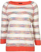Topshop Knitted Spacedye Stripe Sweat - Lyst