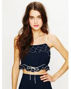 Free People Viscose Petal Crop Top - Lyst