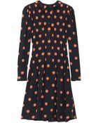 Jill Stuart Kristen Printed Silk Dress - Lyst