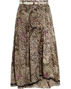 Preen Line Sasha Printed Silk-satin and Georgette Skirt - Lyst
