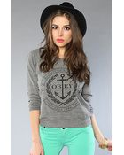 Obey The Cruise Liner Raglan in Heather Gray - Lyst