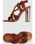 Celine High Heeled Sandals - Lyst
