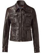 Polo Ralph Lauren Black Leather Motorcycle Jacket - Lyst