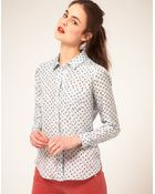Textile Elizabeth and James Textile Elizabeth and James Rose Bud Print Shirt - Lyst