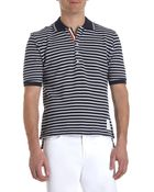 Thom Browne Striped Pique Polo - Lyst