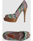 Missoni Pumps with Open Toe - Lyst