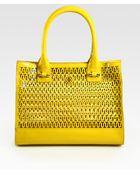 Tory Burch Mini Georgiana Patent Leather Tote Bag - Lyst