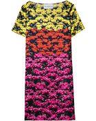 Mary Katrantzou Satin Tulip Print Shift Dress - Lyst