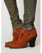 Free People Rumi Square Toe Ankle Boot - Lyst