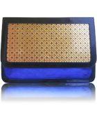 Poupee Couture Blue Crystal Shoulder Bag - Lyst