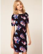 ASOS Collection Asos Pencil Dress in Floral Print - Lyst