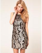 Oasis Animal Sequin Dress - Lyst